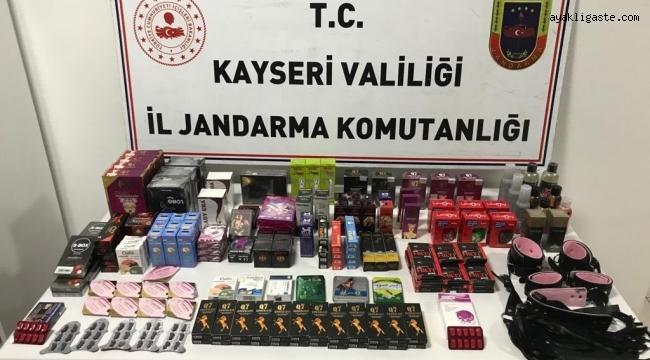 KAYSERİ'DE JANDARMADAN CİNSEL ÜRÜN OPERASYONU!