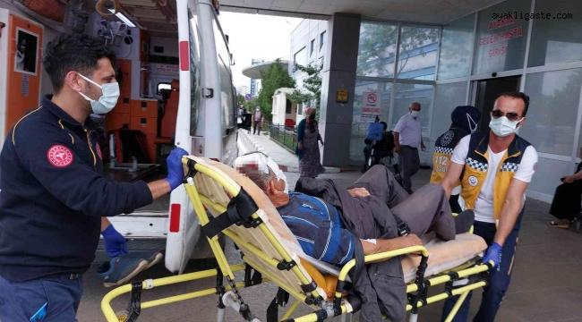Mısır ayıklama makinesi hastanelik etti